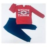 Комплект футболка с длинным рукавом и брюки для мальчика M076