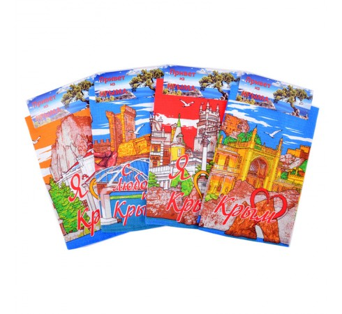 Полотенце вафельное Сердце Крыма 35x60 арт-3560СК