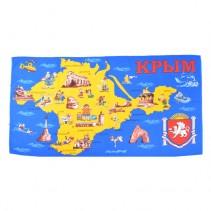 Полотенце вафельное пляжное Крым 80x150 арт-80150К