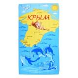 Полотенце вафельное пляжное Крым  80x150 арт-80150КД