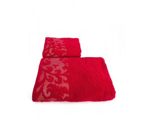 Набор махровых полотенец Морозные узоры 50х90 и 70х140 арт-12989485 (2 шт)