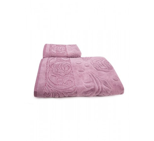 Набор махровых полотенец Чайная роза 50х90 и 70х140 арт-12912227 (2 шт)