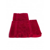 Набор махровых полотенец Сердечки 50х90 и 70х140 арт-12912236 (2 шт)