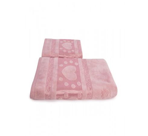 Набор махровых полотенец Сердечки 50х90 и 70х140 арт-12912237 (2 шт)
