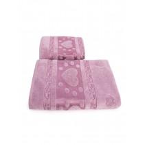 Набор махровых полотенец Сердечки 50х90 и 70х140 арт-12912239 (2 шт)
