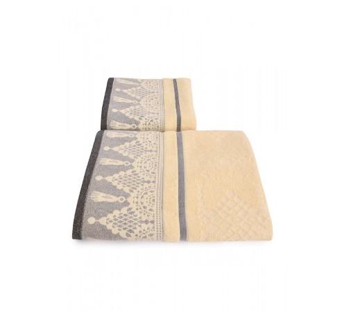 Набор махровых полотенец Венецианское кружево 50х90 и 70х140 арт-13176152 (2 шт)