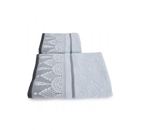 Набор махровых полотенец Венецианское кружево 50х90 и 70х140 арт-13176151 (2 шт)