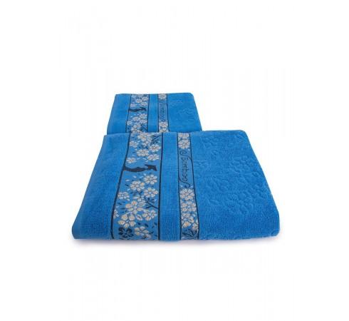 Набор махровых полотенец Бамбук и цветущая сакура 50х90 и 70х140 арт-13176148 (2 шт)