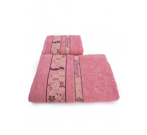 Набор махровых полотенец Бамбук и цветущая сакура 50х90 и 70х140 арт-13176149 (2 шт)