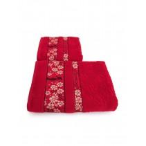 Набор махровых полотенец Бамбук и цветущая сакура 50х90 и 70х140 арт-13176145 (2 шт)