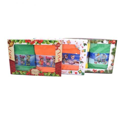 Набор махровых полотенец 35x60 арт-КрНГ4-2П