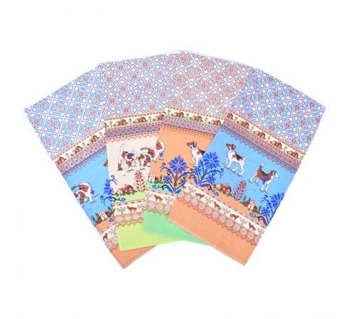 Полотенце кухонное рогожка Собаки кайма 35×75 хлопок арт-12170