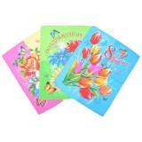 Полотенце кухонное вафельное Букеты-бабочки хлопок 45×60 арт-22118/1