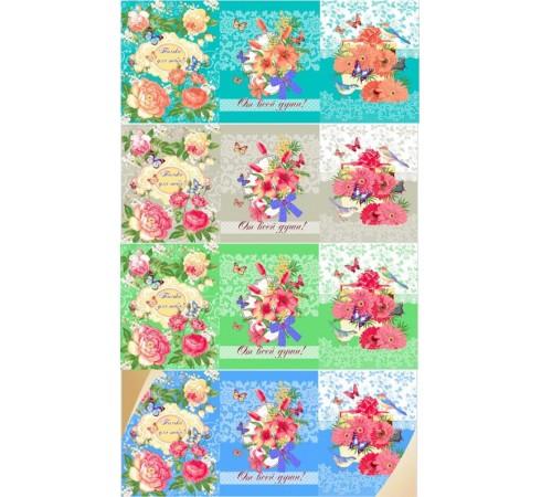 Полотенце кухонное вафельное Нежность 45×60 хлопок арт-705