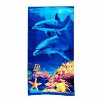 Полотенце пляжное махрово-велюровое 70x140 арт-12180