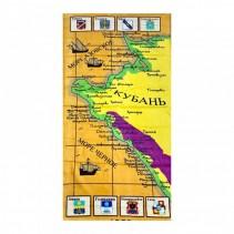 Полотенце махрово-велюровое Карта 70x140 арт-1353