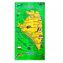 Полотенце махрово-велюровое Карта 70x140 арт-1373