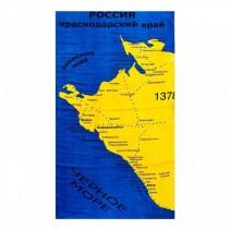 Полотенце махрово-велюровое Карта 70x140 арт-1378