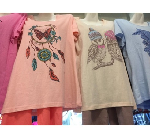 Комплект женский (футболка и бриджи) 46-56 р-р арт-К4865