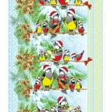 Полотенце вафельное Зимняя песня 50x60 ПВ0340