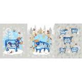 Полотенце вафельное Бычки снегири 60x45 ПВ0456