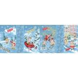 Полотенце вафельное Бычки Зимние спортсмены 60x40 ПВ0494