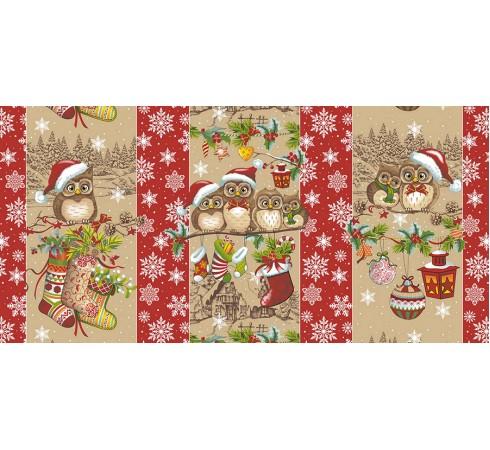 Полотенце вафельное Новогодняя семейка 60x45 ПВ0502