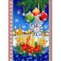 Полотенце вафельное Новогодняя сказка 60x45 ПВ0506