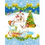 Полотенце вафельное Чудесный Дед Мороз 60x45 ПВ0513
