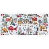 Полотенце вафельное Зимние каникулы 60x45 ПВ0515