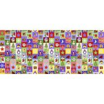 Полотенце вафельное Новогодняя мозаика 60x45 ПВ0516