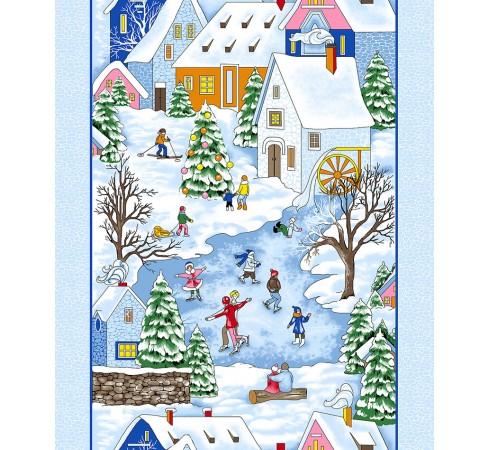 Полотенце вафельное Зимние каникулы 50x60 ПВ0519