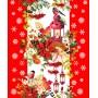 Полотенце вафельное Новогодняя композиция 50x60 ПВ0521