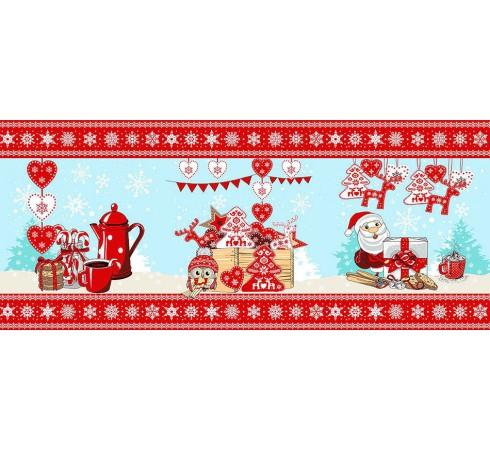 Полотенце вафельное Рождественский гостинец 60x45 ПВ0533