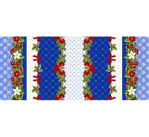 Полотенце вафельное Новогодняя кайма 60x45 ПВ0536