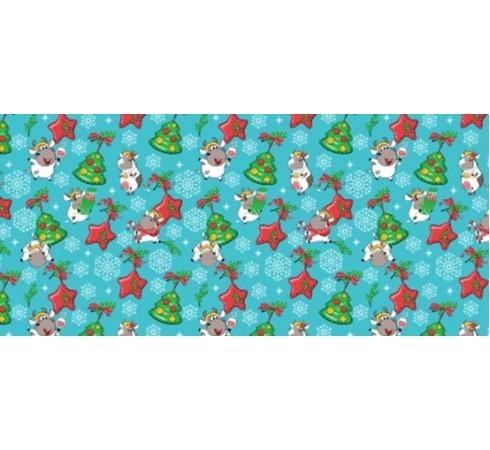 Полотенце вафельное Бычки пряники 60x45 ПВ0554