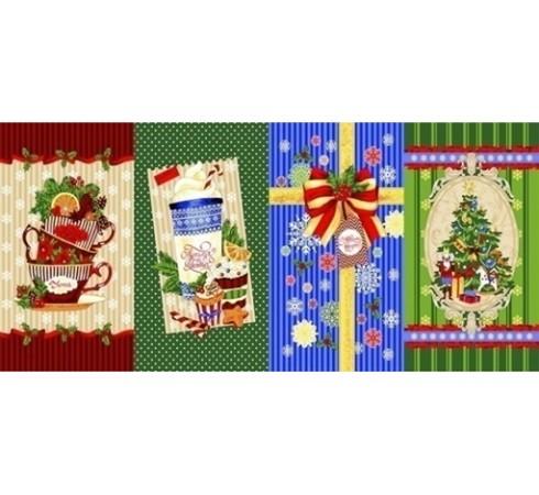 Полотенце вафельное Новогоднее пожелание 60x35 ПВ0555
