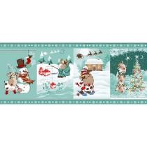 Полотенце вафельное Новогоднее приключение 60x45 ПВ0556