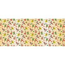 Полотенце вафельное Бычки по полю 60x45 ПВ0570