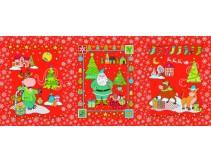 Полотенце вафельное Дед мороз и бычки 60x45 ПВ0571