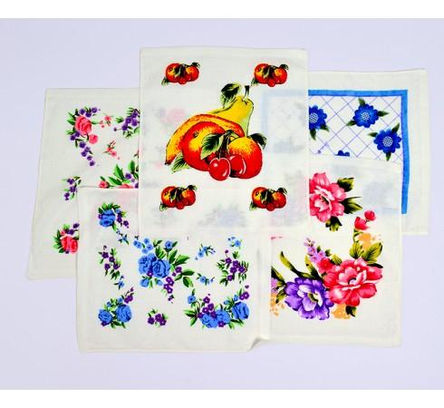 Салфетка махровая Цветы 30x30 арт 12181