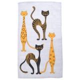 Полотенце пляжное вафельное Египетские коты хлопок 80x150 арт-80150ЕК