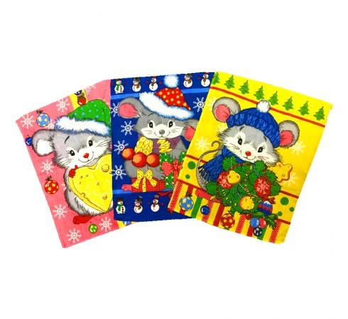 Полотенце вафельное Мыши зимние 45×60 арт-23178