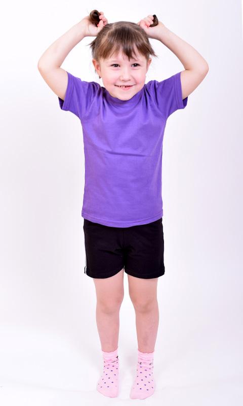 Футболка детская однотонная 024<br>(цвета в ассортименте)