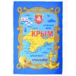 Полотенце вафельное пляжное Крым карта арт-100150К