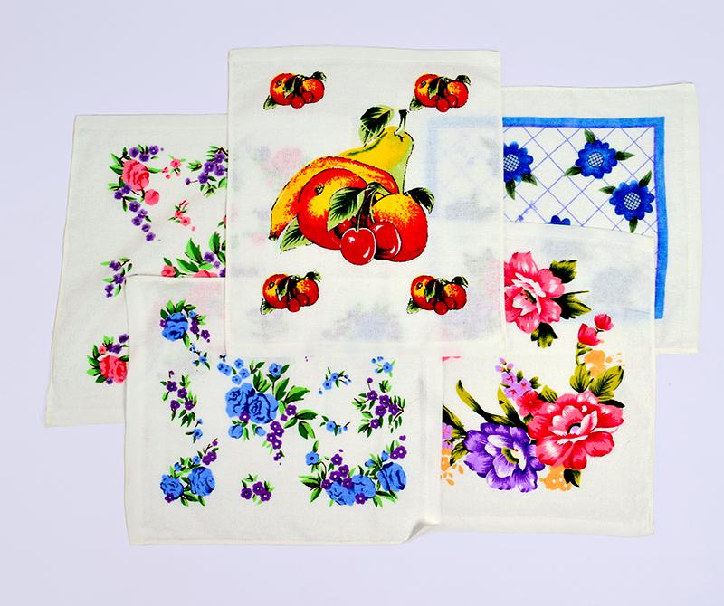 Салфетка махровая Цветы 30×30 арт 12181