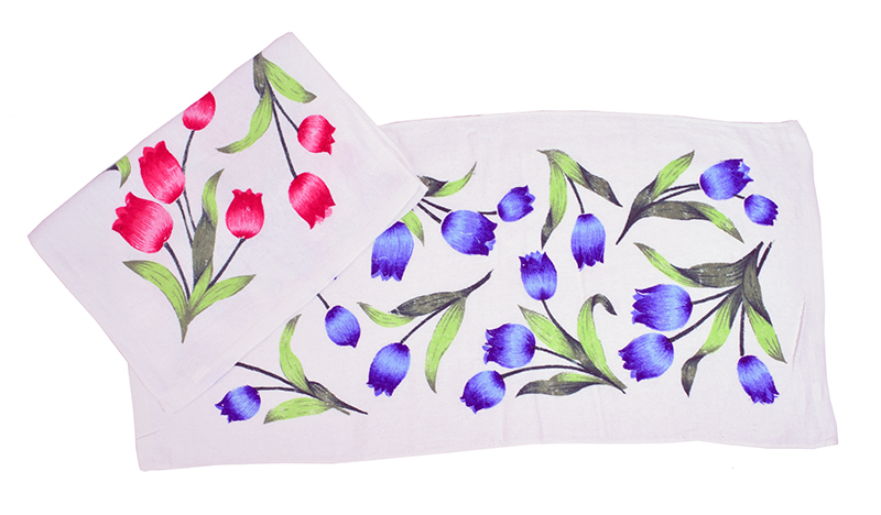 Полотенце махровое Цветы 34×75 арт 12185