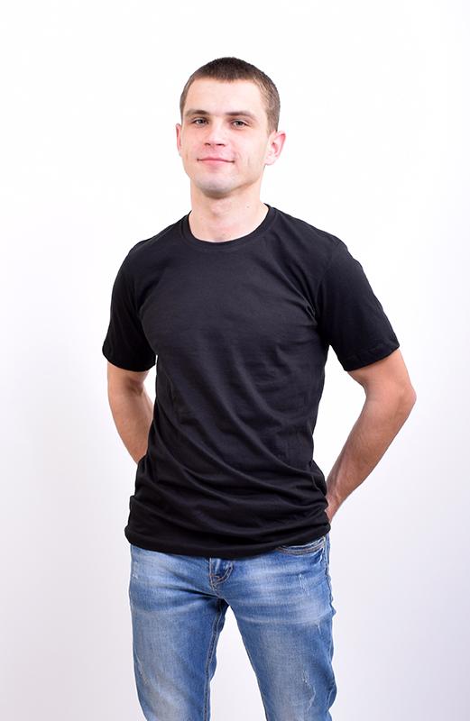Футболка мужская однотонная черная арт. M-002