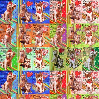 Полотенце вафельное «Собаки-2» арт. 22135
