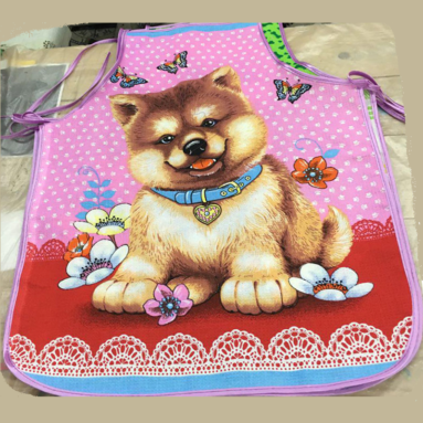 Фартук вафельный без кармана «Собаки-1» арт. 12177